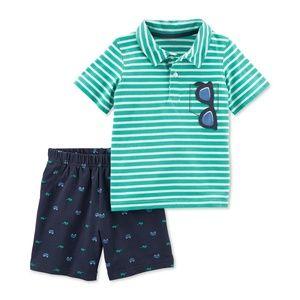 Carter's Toddler Boys 2-Pc. Polo & Shorts set, 3T